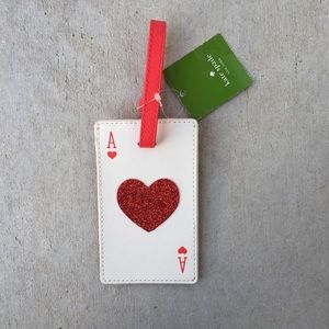 Kate Spade Play The Wild Card Luggage Tag NEW